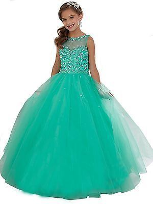 Girls Kids Formal Party Pageant Dresses Prom Ball Gowns Princess Custom Dance