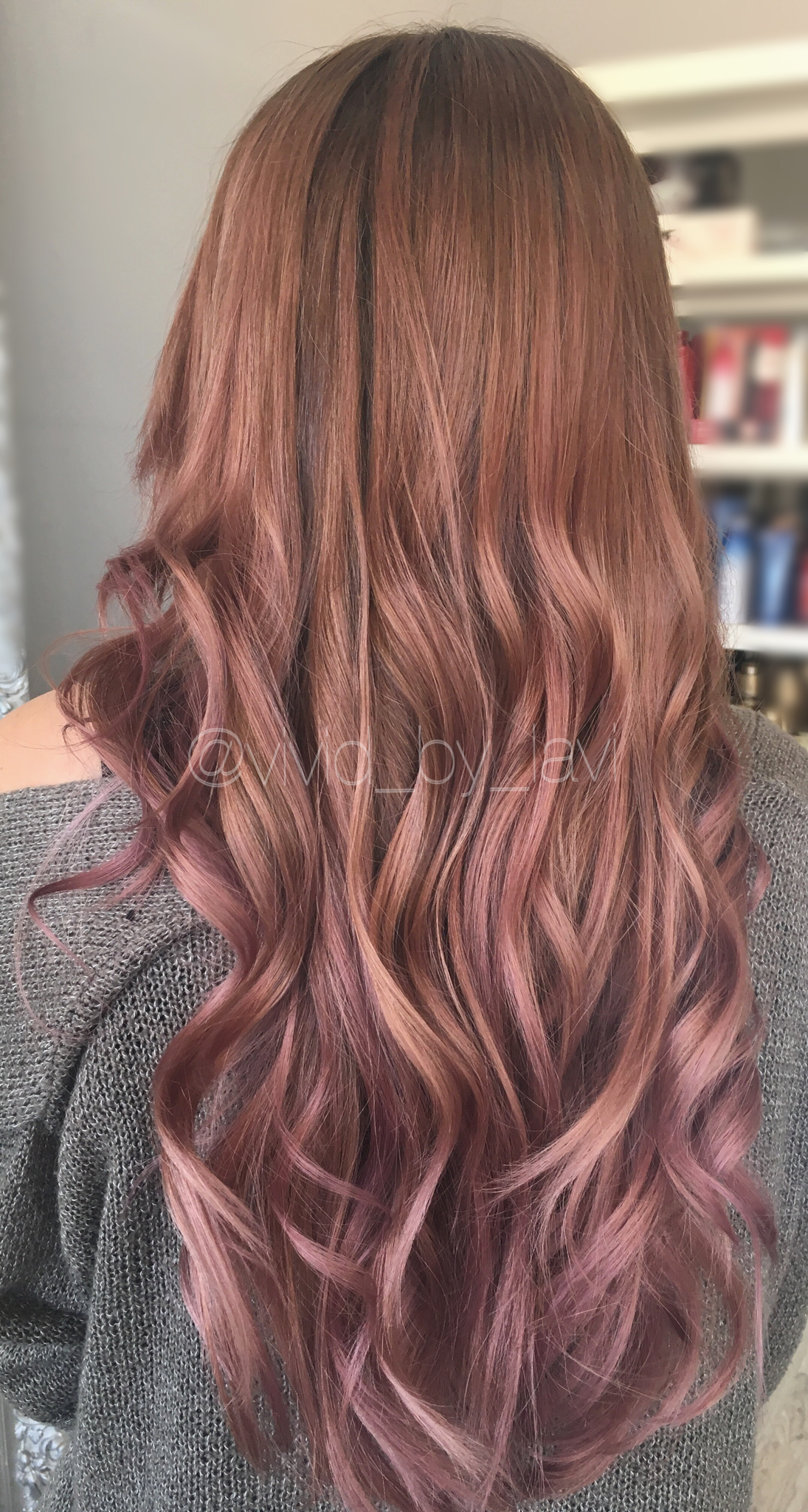 Dusty Rose Done By Vivid By Lavi Instagram Balayage