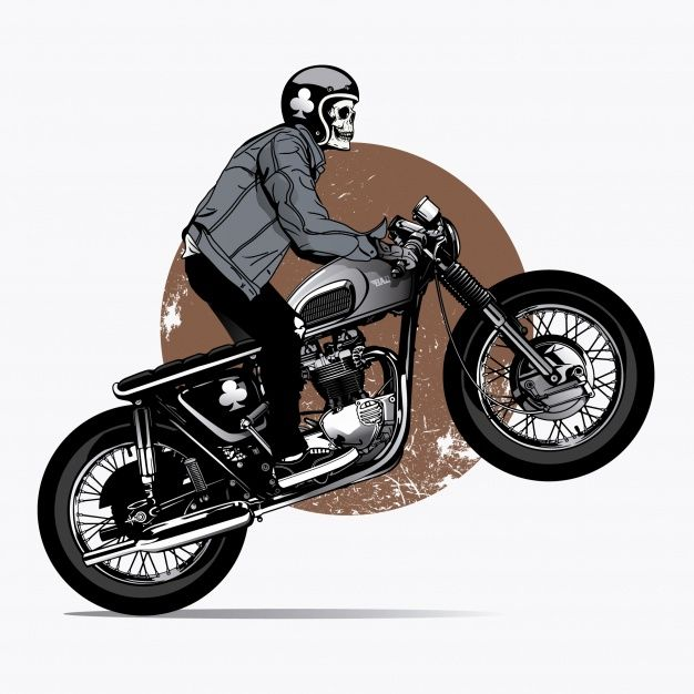 Download Skeleton Rigind A Motorbike For Free Arte Bicicleta