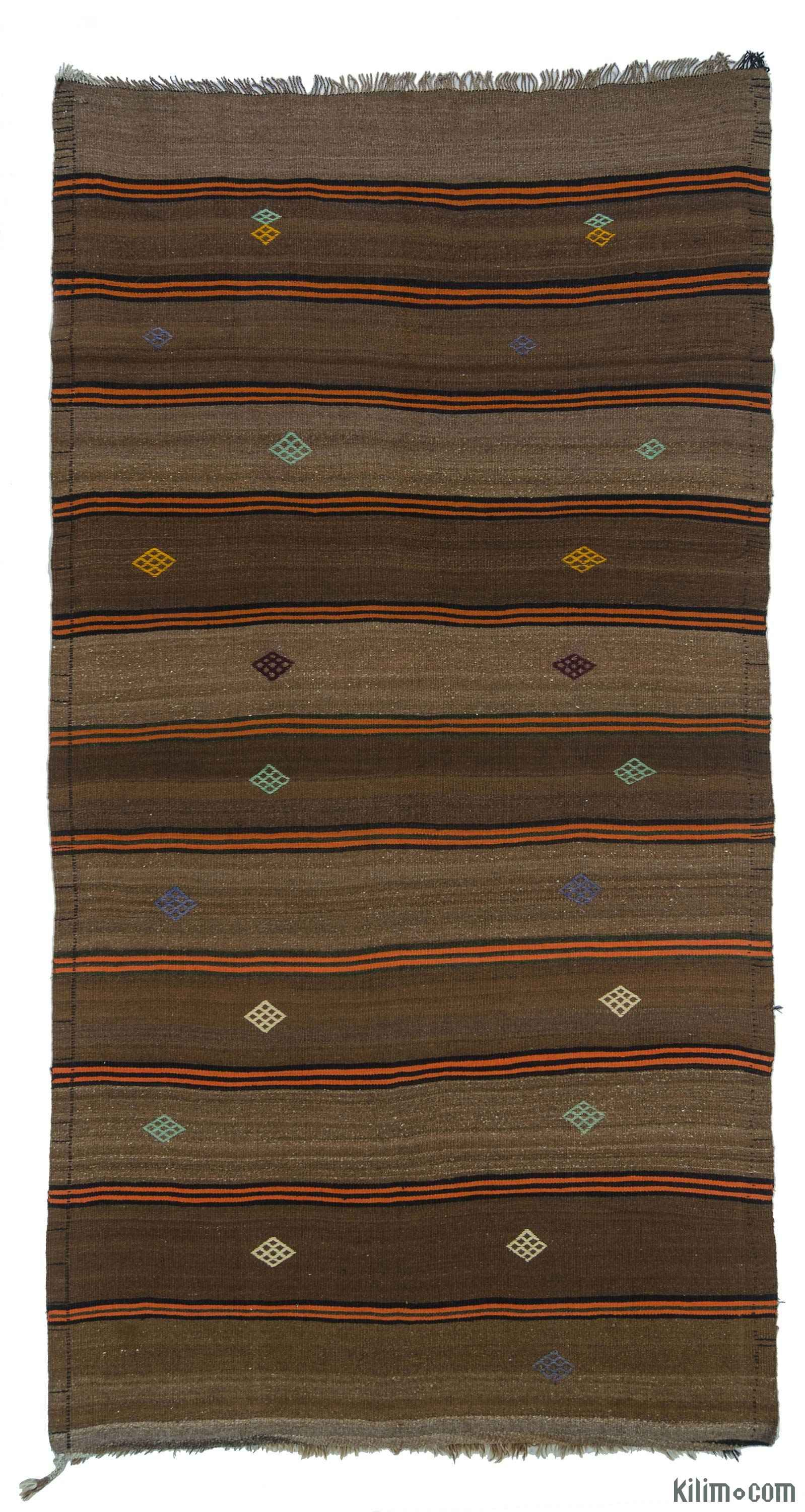 Teppiche Vintage Patchwork Vintage Striped Kilim Rug With Jijims Handwoven In Turkey In
