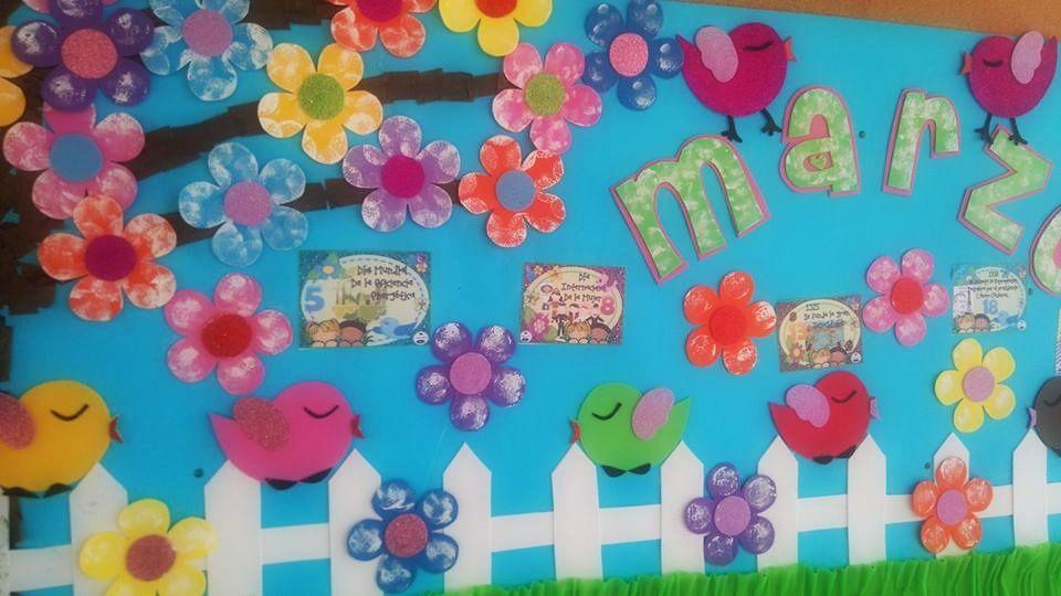 peri dico mural del mes de marzo primavera peri dicos