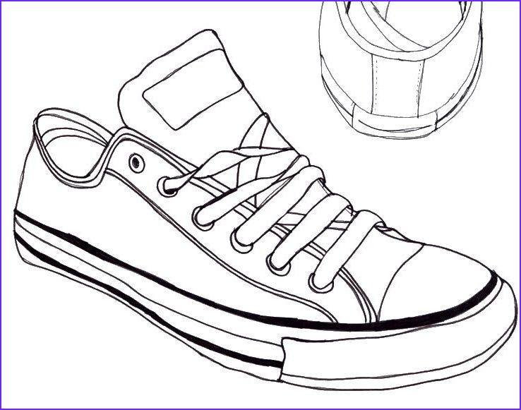 Converse Coloring Page Converse All Star Coloring Page Shoes