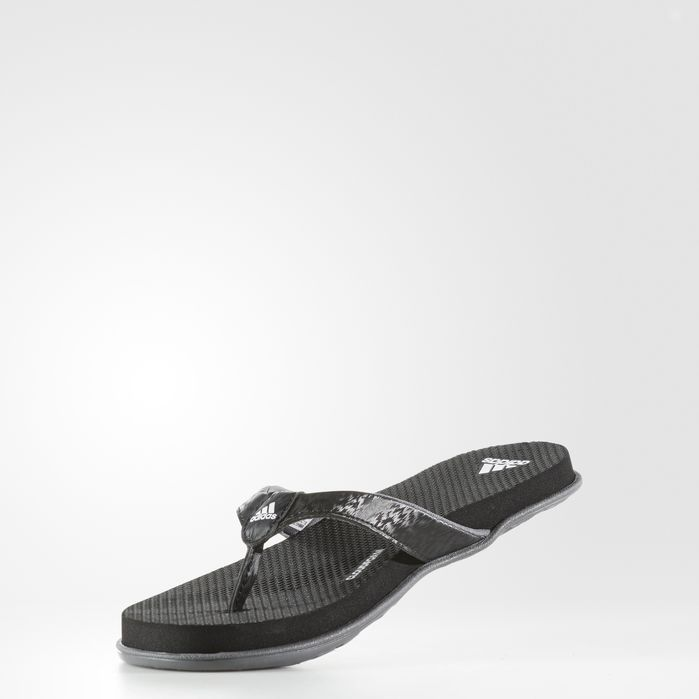 cf00c02a3c2a54 Cloudfoam One Thong Sandals Black 10 Womens Blue Adidas