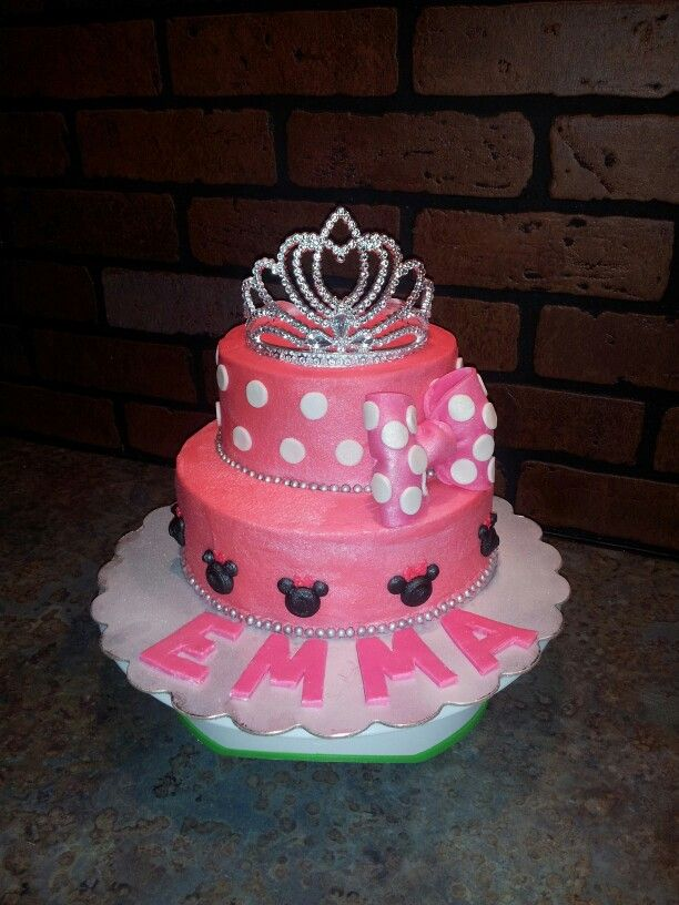 Minnie Mouse Princess Cake Cakes 2nd Birthday