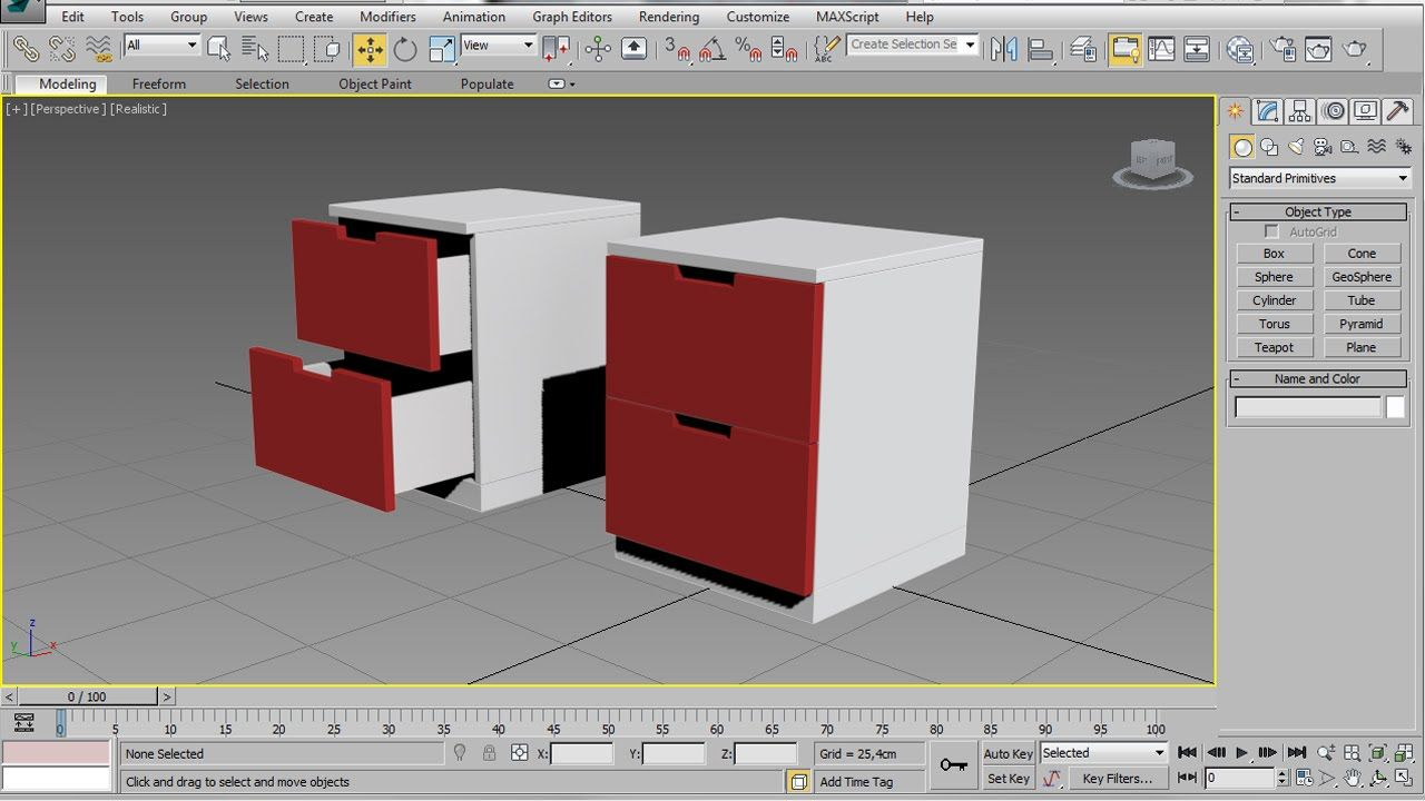 3ds Max Chest Of Drawers Easy Beginner Tutorial