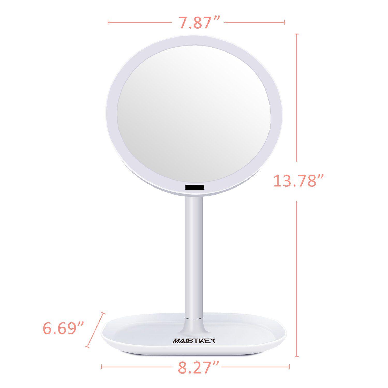 Maibtkey Lighted Makeup Mirror Motion Sensor Vanity Mirror 30 Led