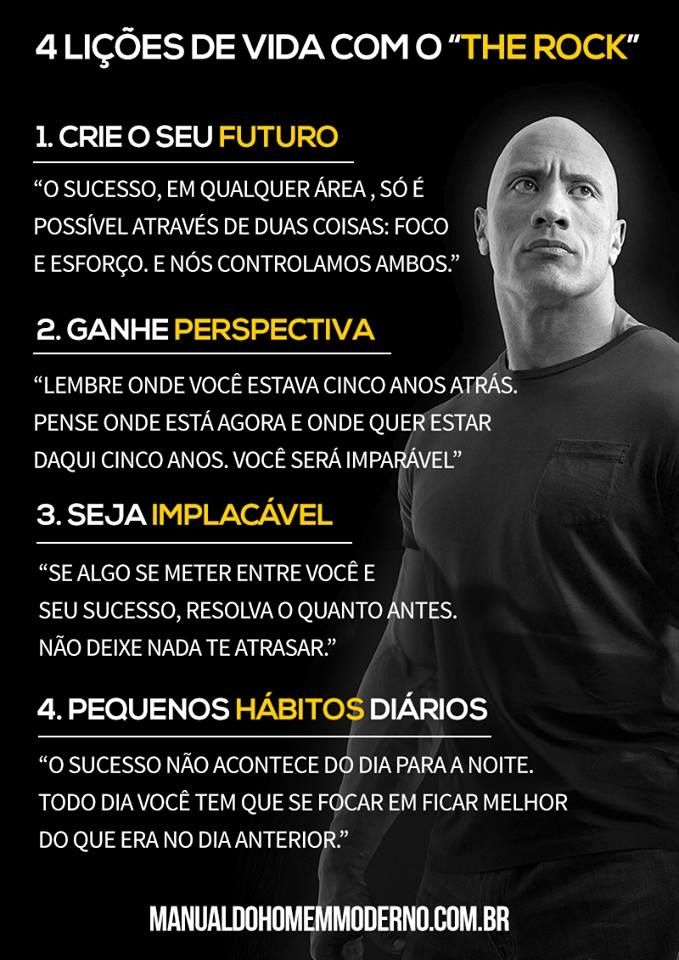 5 Lições De Vida Com Dwayne The Rock Johnsons Frases