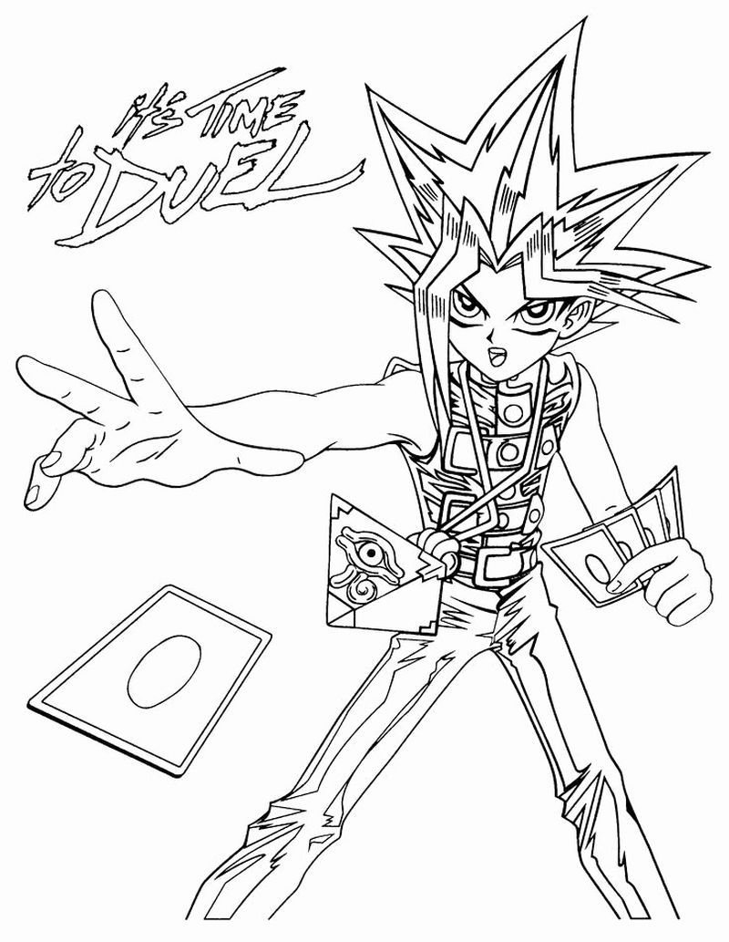 Yu Gi Oh Arc V Coloring Pages Pdf In 2020 Monster Coloring Pages Coloring Pages Cartoon Coloring Pages