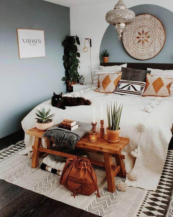 18 Photos De Chambres à Coucher Décorés Avec Un Style Bohémique #amenagementmaisonchambre