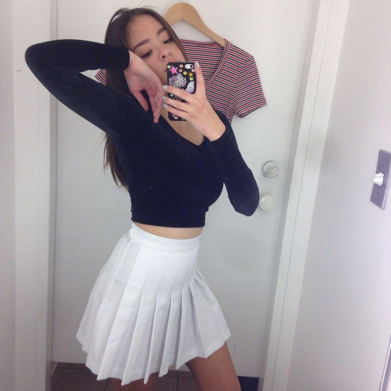 Aaselfie Pleated Tennis Skirt Fashion Pleated Mini Skirt