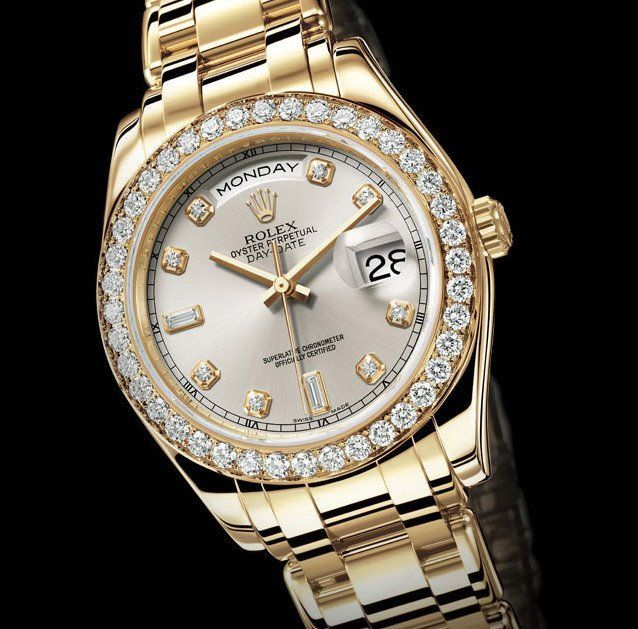 Gold Rolex Watches For Women With Diamonds