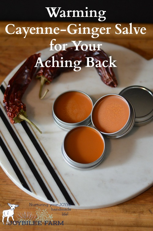 Warming Cayenne Pepper -- Ginger -- St. John's Wort Salve for Aches #naturalcures