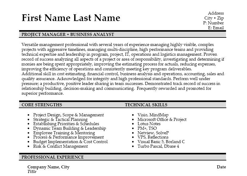 Click Here to Download this Technology Business Analyst Resume - financial analyst resume example