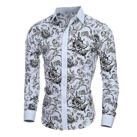 Elegant Noble Floral Shirt