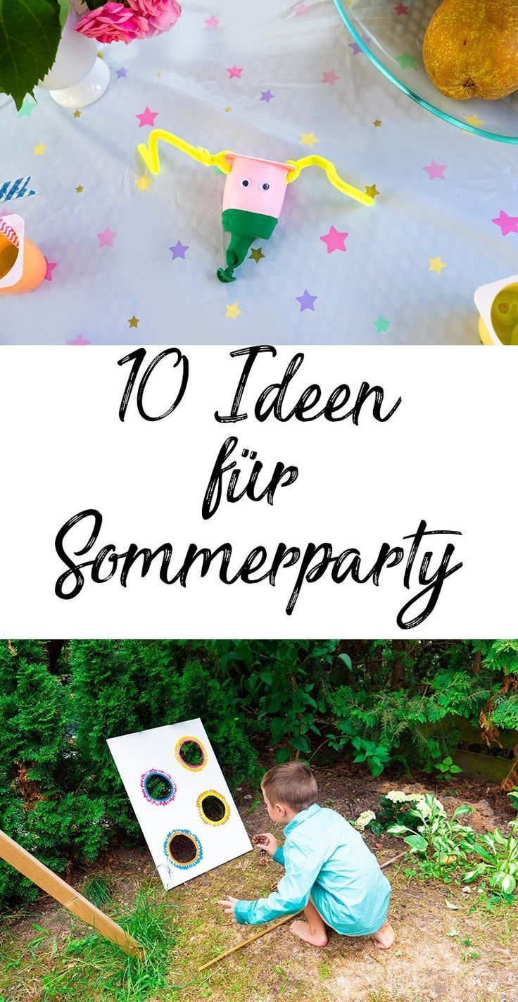 Bunte Sommerparty für Kinder: 10 schnelle und einfache Ideen,  Bunte Sommerparty für Kinder: 10 schnelle und einfache Ideen,