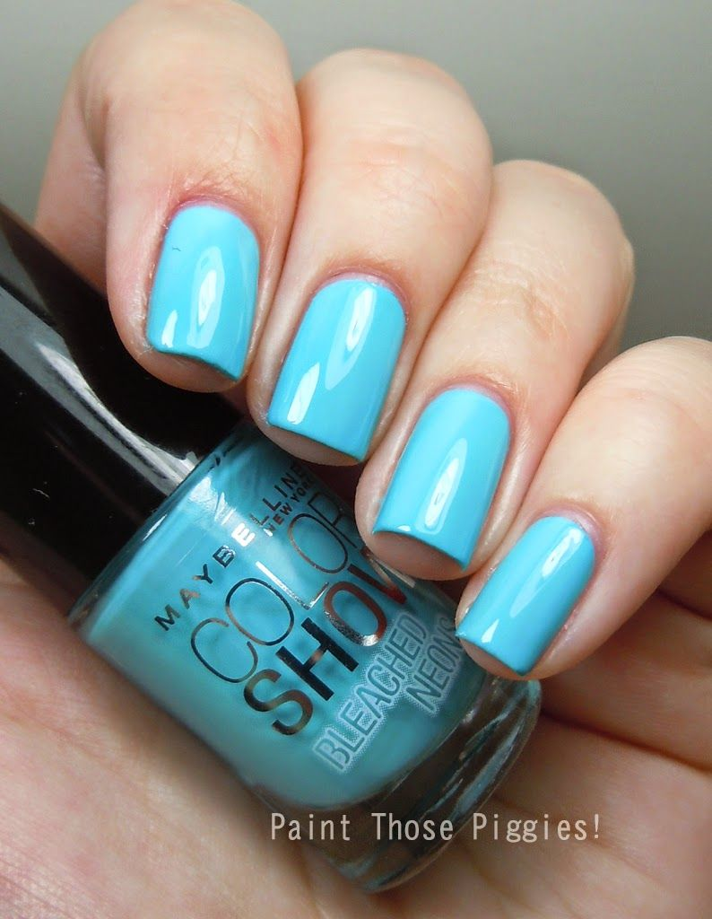 Maybelline Bleached Neons: Day Glow Teal | Polish Collection ...