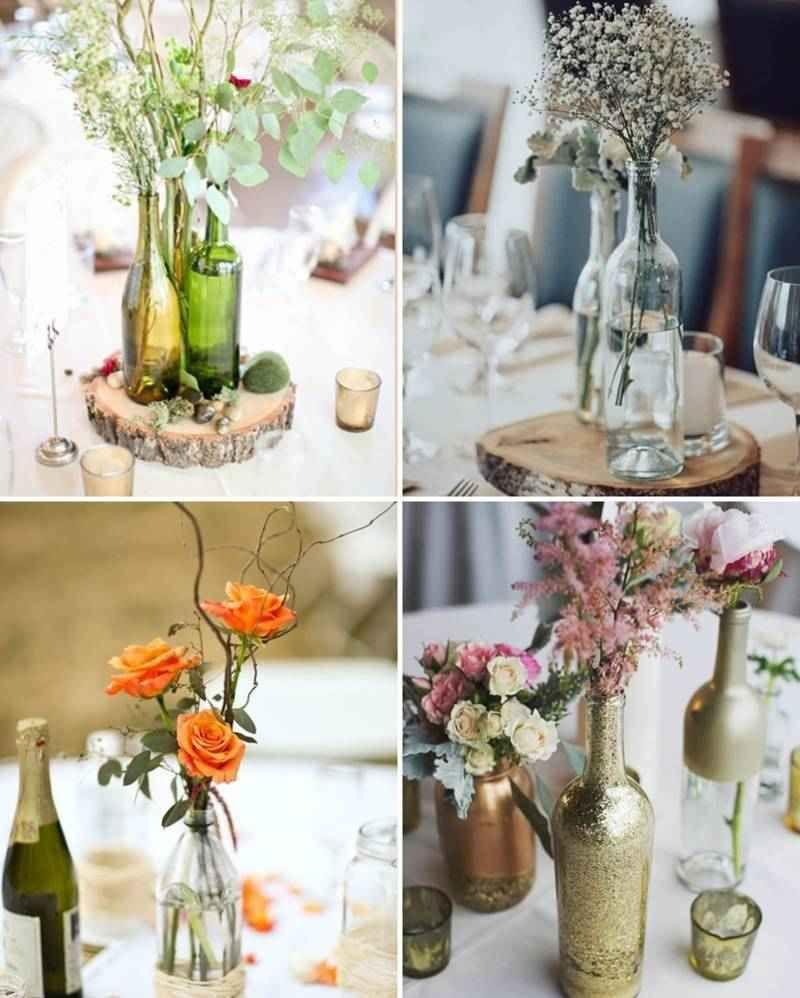 Centros de mesa con botellas de vidrio centros de mesa - Mesas de centro de cristal ...