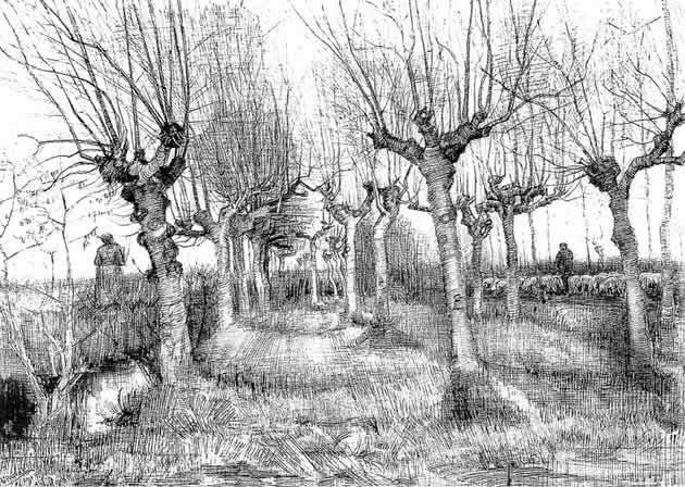 One Point Perspective Drawing The Ultimate Guide Van Gogh Drawings Van Gogh Landscapes Van Gogh Paintings