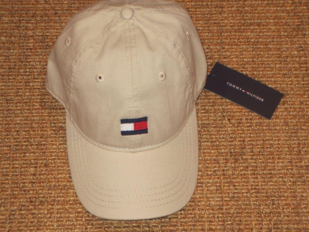 Nwt Tommy Hilfiger Men S Baseball Cap Hat Big Flag Logo Khaki Sport Classic Baseball Caps Mens Tommy Hilfiger Man Tommy Hilfiger