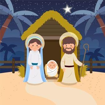 Download Download Nativity Scene Illustration In Flat Design for ...