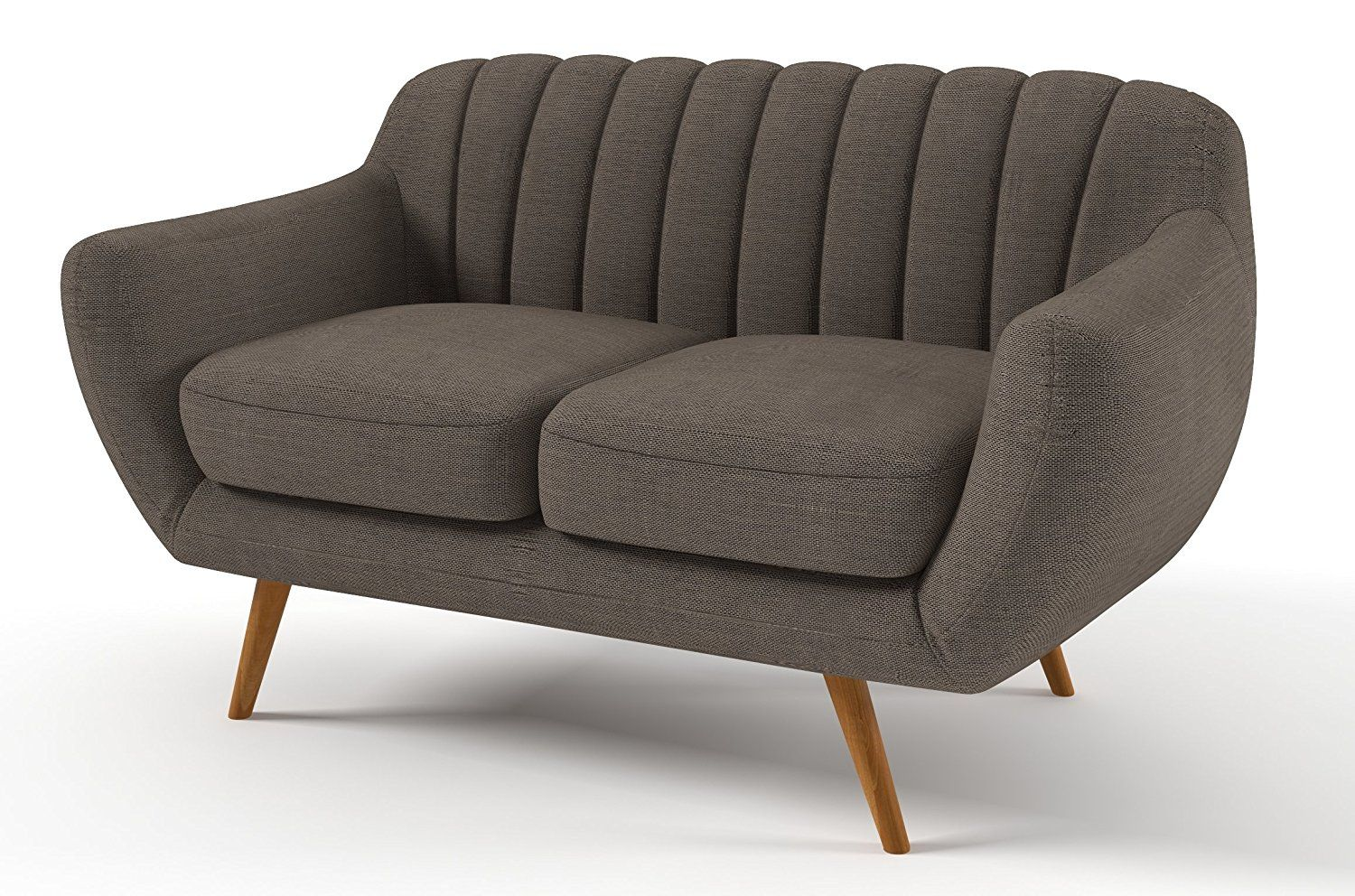 Sofabella Vogue 2 Seater Sofa With Cotton Drill Style Fabric 142 X 86 X 84 Cm Natural 2 Seater Sofa Comfy Sofa Sofa