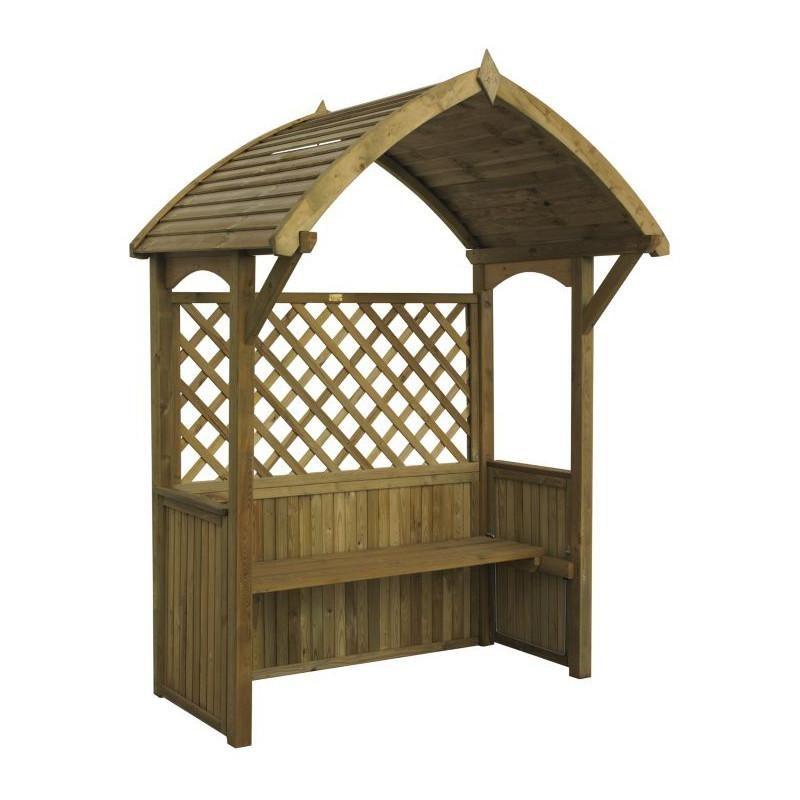 Abri pour barbecue convertible en banc Rowlinson - Maison Facile - plan pour fabriquer un banc de jardin