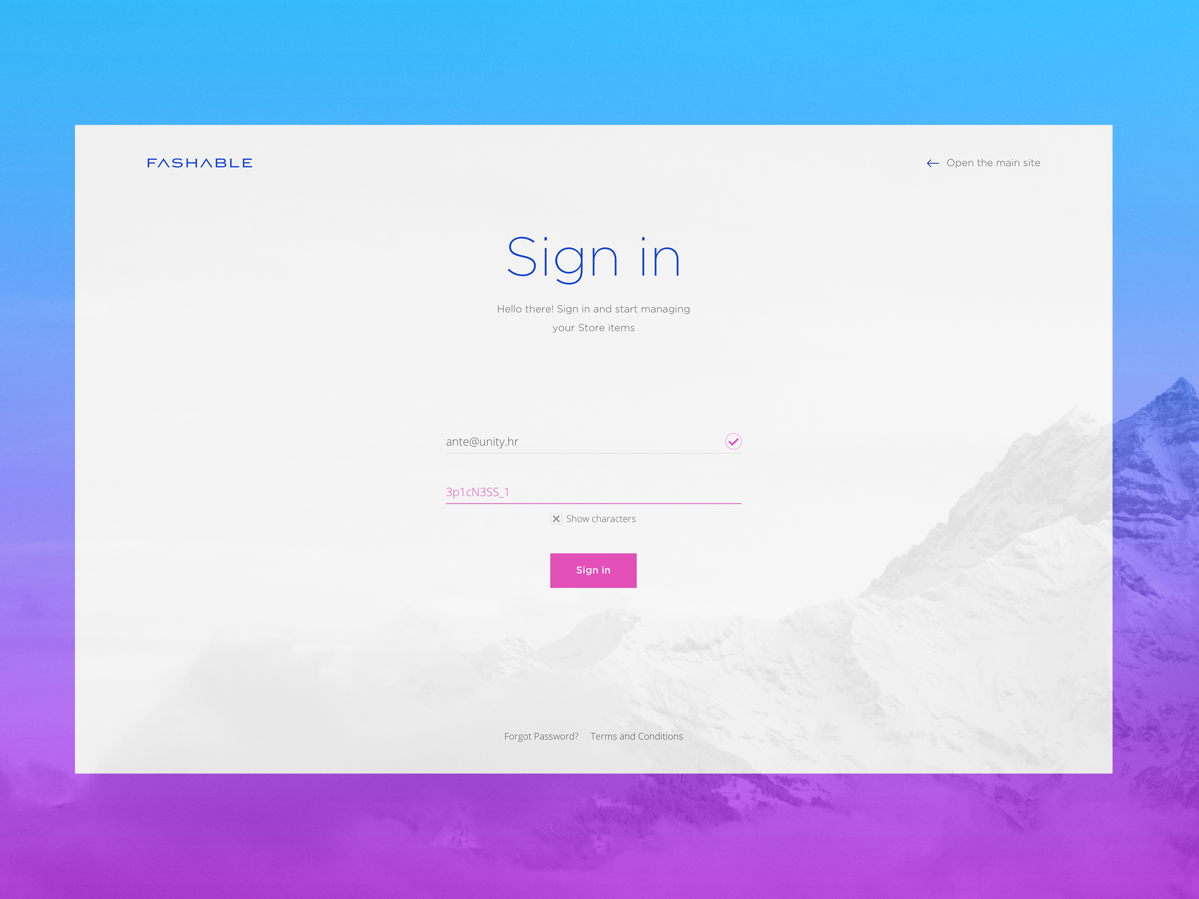 Sign In Full Png By Ante Matijaca Login Page Design Web Design Login Design