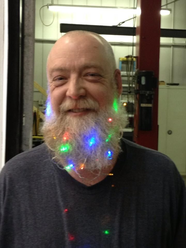 Lights in Beard | Christmas Ideas | Pinterest