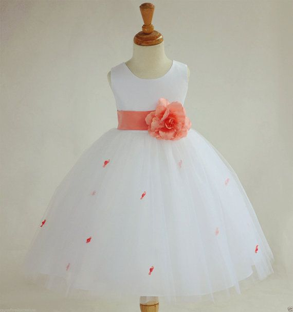 Elegant Formal Rosebud Flower Girl Dress Pageant Birthday Jr Bridesmaid Wedding