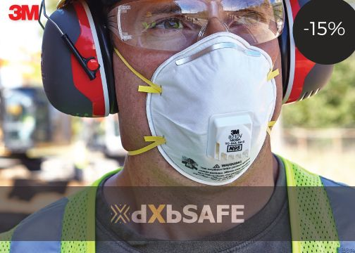 8210V N95 Mask= AED66.43 #safetyfirst #safety #ppe #care #health #work #life #time #people #dxbsafe #respiratory #3M #discount