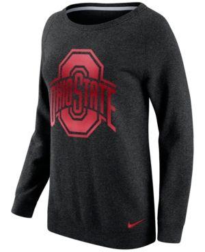 Nike Women s Ohio State Buckeyes Champ Drive Boyfriend Crew Sweatshirt -  Black L 5a1edbb59e