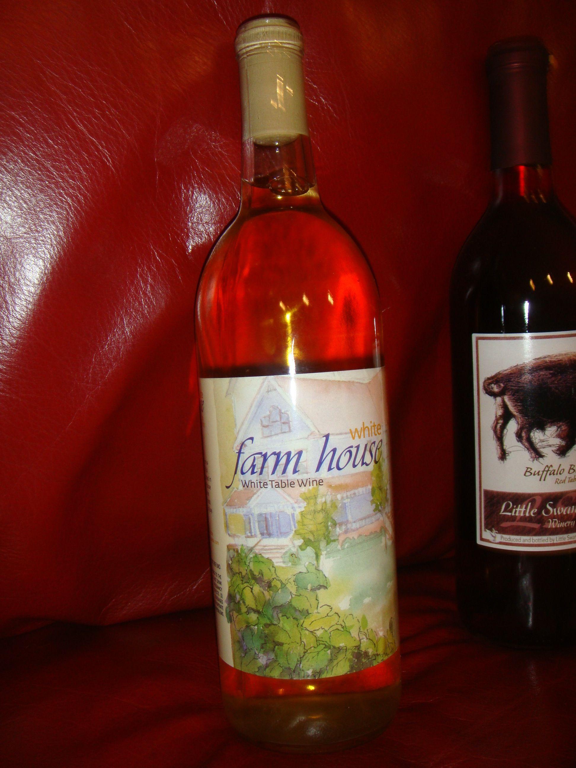 White Farm House Table Wine Wine Bottle Distillery Wine