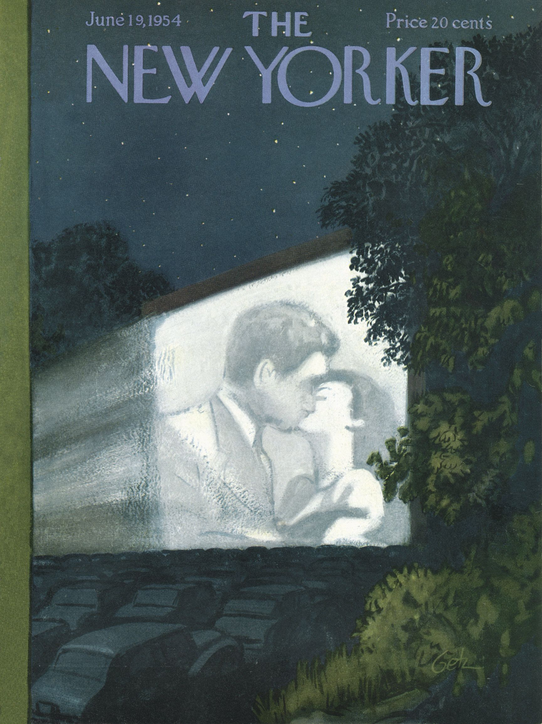 The New Yorker - Saturday, June 19, 1954 - Issue # 1531 - Vol. 30 - N° 18 - Cover by : Arthur Getz