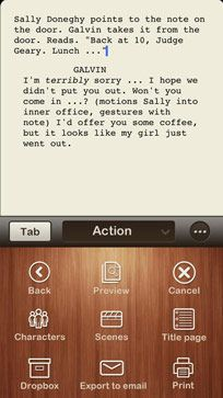 Spripts Pro Scriptwriting App iPad & iPhone - New York Film