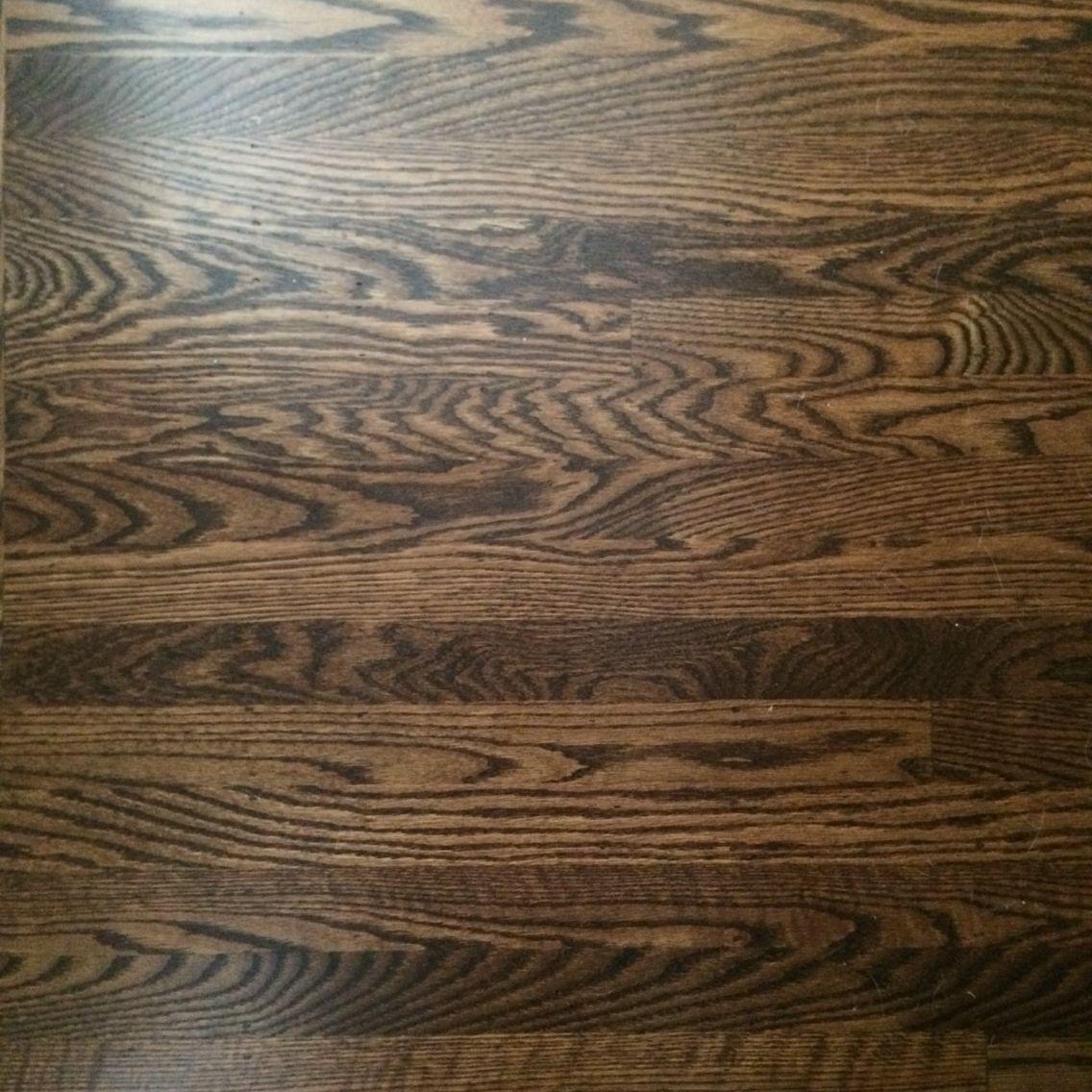 Dark Stained Oak Floors: Dark Walnut White Oak Floors To Match Rest Of The House
