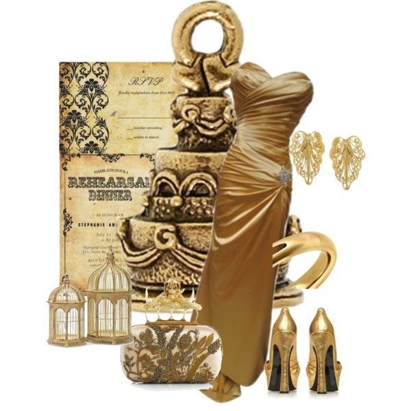 Golden Wedding, created by jackie22 on Polyvore