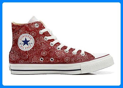 Converse All Star personalisierte Schuhe (Handwerk Produkt) Hot Pink Paysley