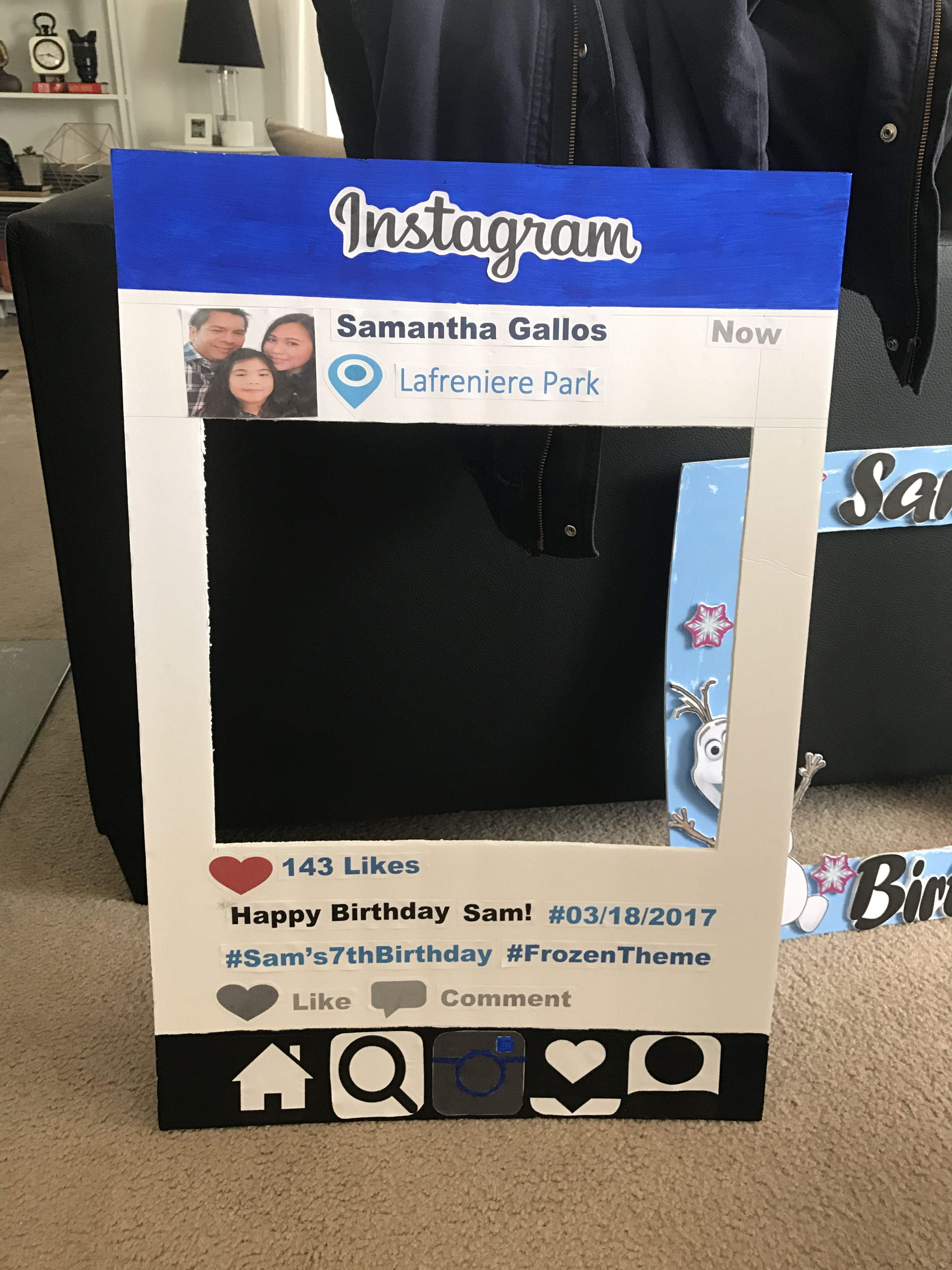 diy instagram photobooth frame - Diy Photo Booth Frame