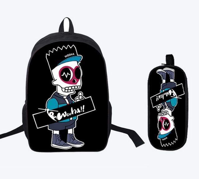 16 Inch Kids Backpack Tokyo Ghoul School Bags Satchel 3D Cartoon Orthopedic Children  School Bags For 4b02feec30