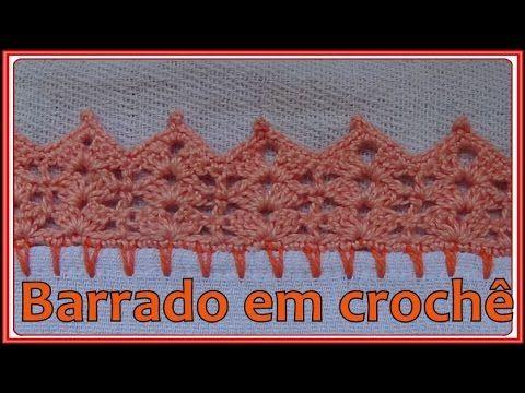 Barrado Em Croche Para Pano De Prato Simples E Facil Barrados De