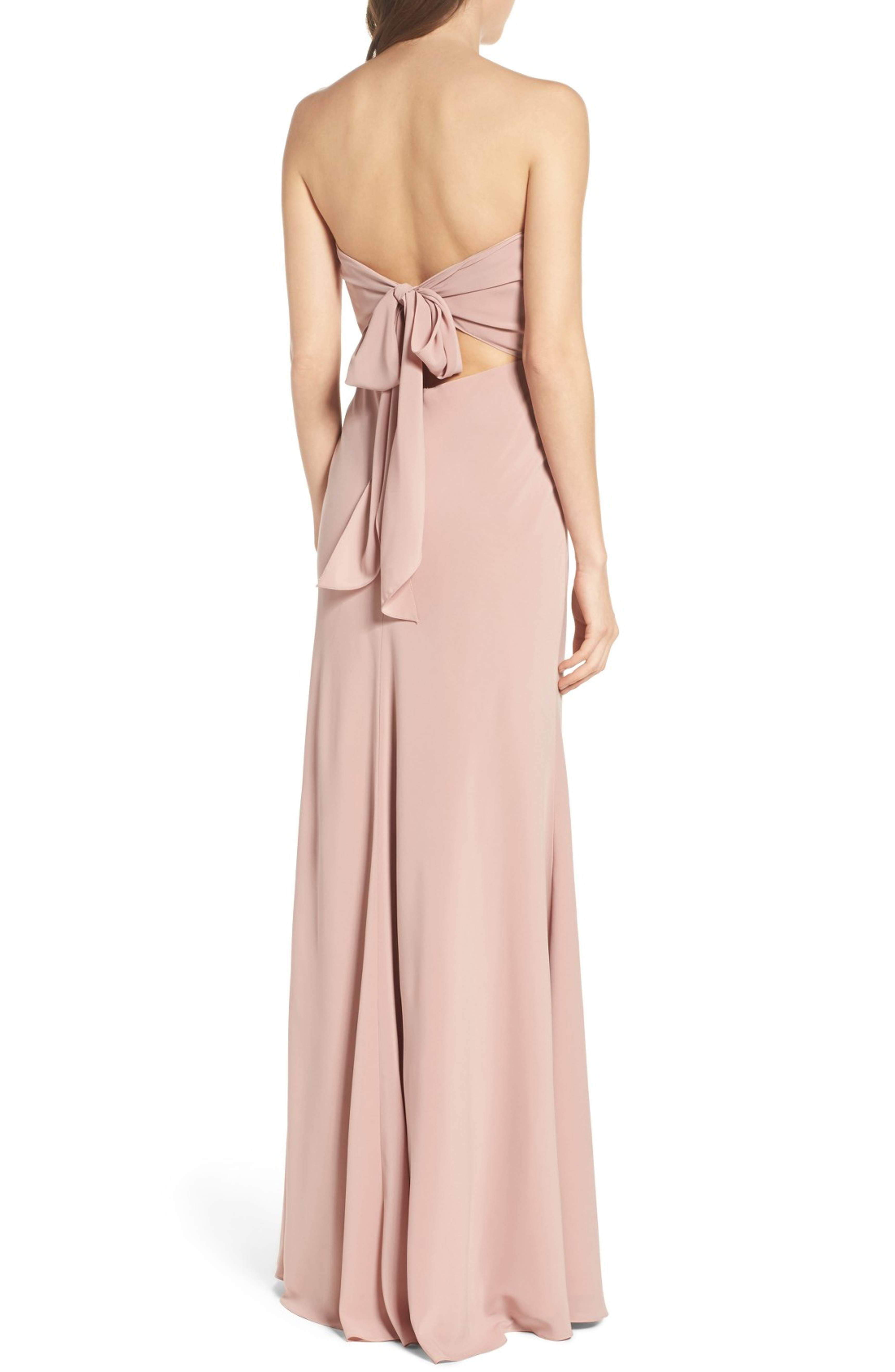 ebe1210c4ab Main Image - Jenny Yoo Kylie Tie Back Strapless Gown