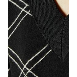Karierter Pullover Mit V-ausschnitt Ted Baker #ponchodress