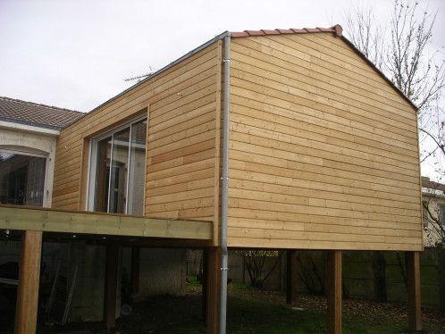 exemple du0027Extension en Ossature Bois sur pilotis en iroko - exemple de facade de maison
