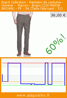 Collection Esprit Braun Costume Homme Pantalon De Marron gaaq1