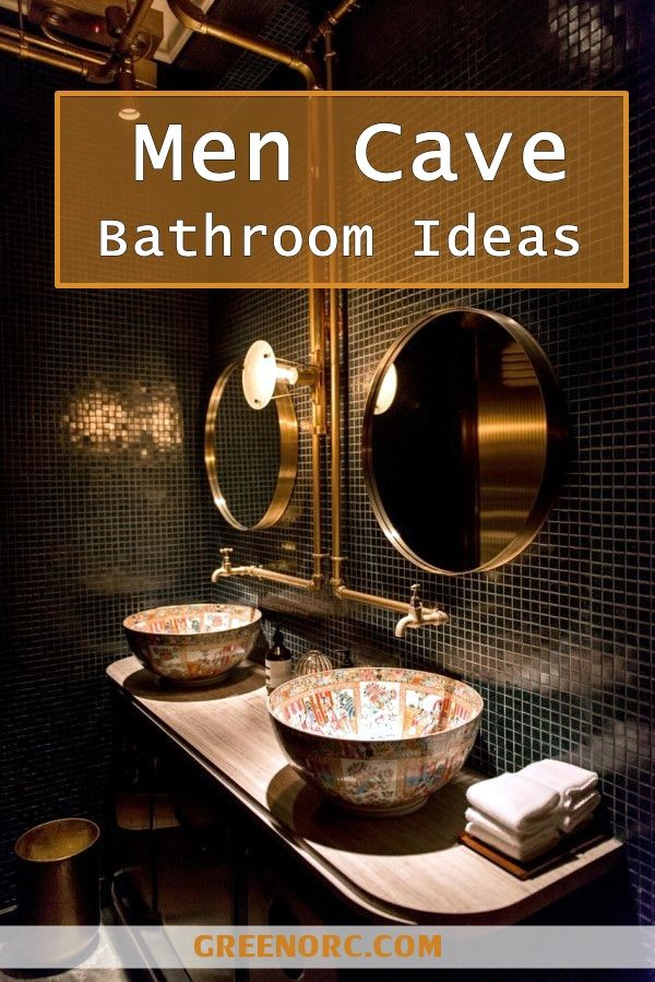40 clever men cave bathroom ideas - Bathroom Decorating Ideas For Guys