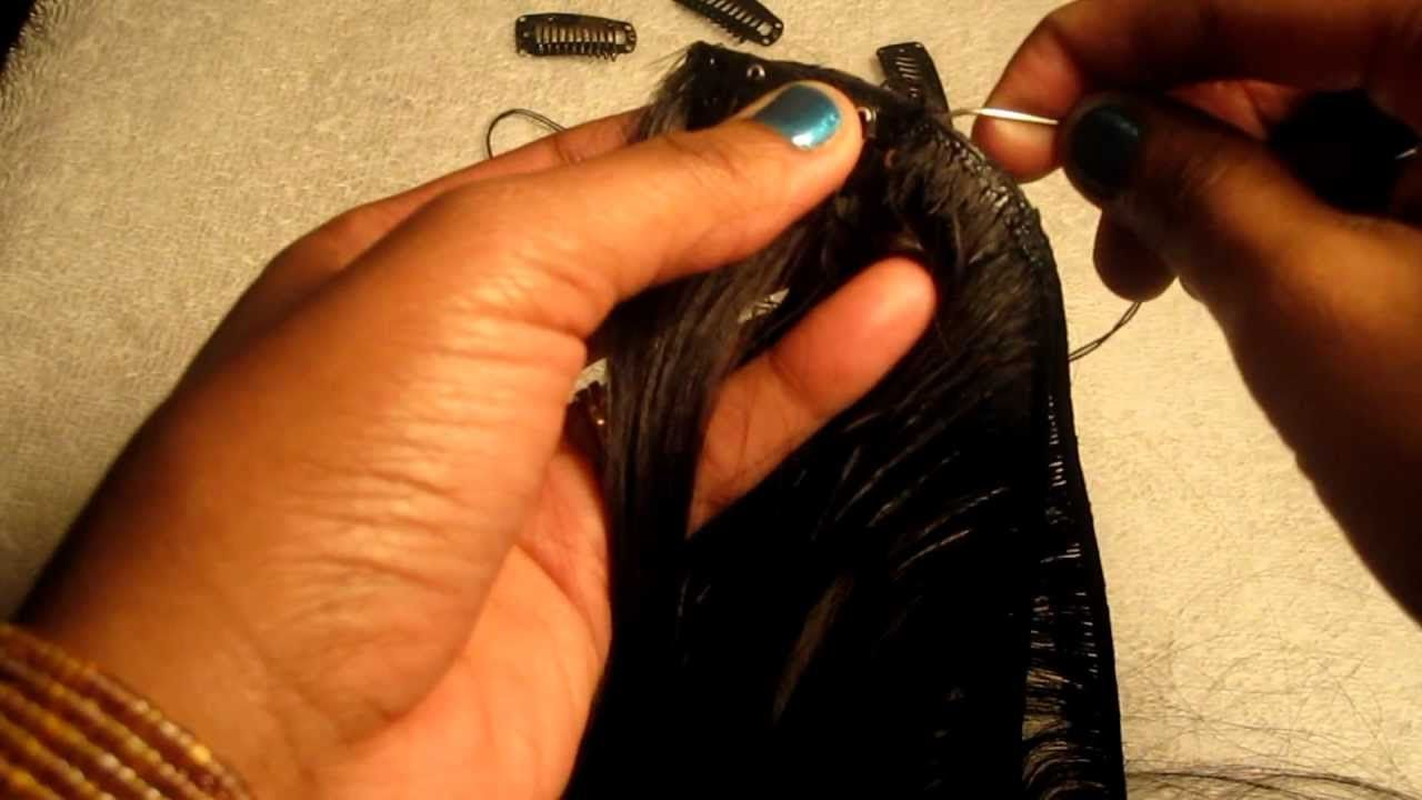 HOW TO Make Clipin Hair Extensions Black hair