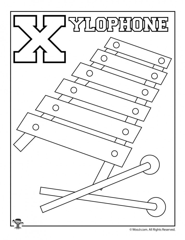 X Is For Xylophone Alphabet Coloring Pages Coloring Pages