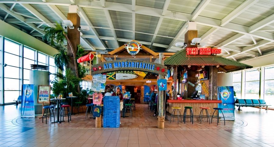 Air Margaritaville In The Montego Bay Jamaica Airport