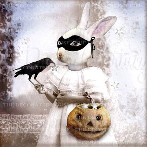Halloween Abigail Bunny Bandit Anthropomorphic Animal Rabbit