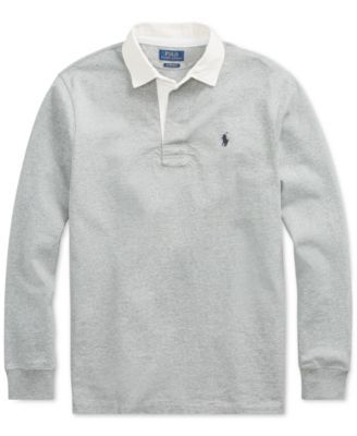 b85eda95dbc0e Polo Ralph Lauren Men's Big & Tall The Iconic Rugby Shirt - League Heather  XLT